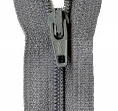 "Grey Kitty 14"" Zipper"