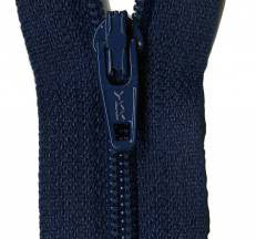 "Navy Blue 22"" Zipper"