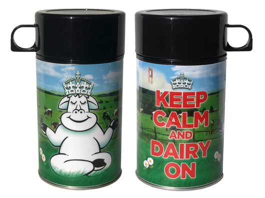 Keep Calm & Dairy On Milk Container
