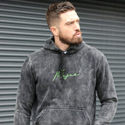 Bilbao Acid Wash Hoodie - Black - Mejor Clothing