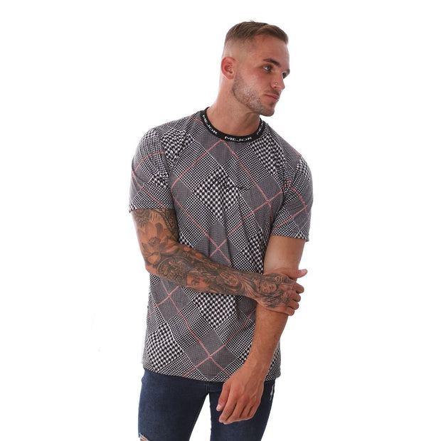 Bilba T-shirt - Grey Check