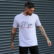 Signature 'Barcelona' Tee - Bright White - Mejor Clothing