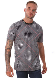 Bilba Tee - Grey Check - Mejor Clothing