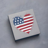 Patriotic Heart Block Sign