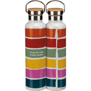 Change the World By Being Yourself Pride Insulated Bottle