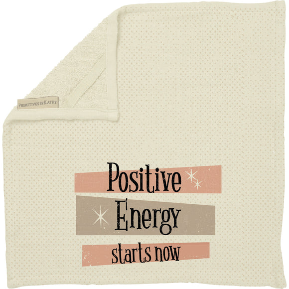 Positive Energy Starts Now Washcloth