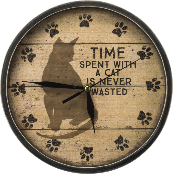 Time Spent with a Cat Clock - SolagoHome