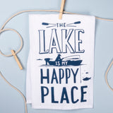 The Lake is My Happy Place Dish Towel