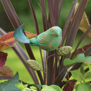 Teal Bird Plant Pick