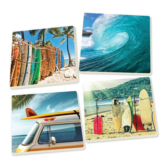 Surf's Up Coasters - set of 4 - SolagoHome