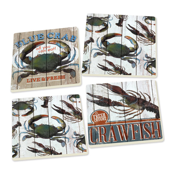 Crab Coasters - set of 4 - SolagoHome