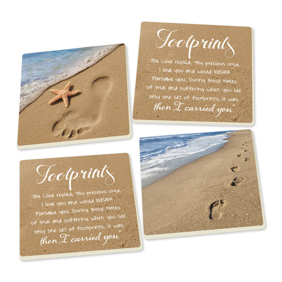Footprints Coasters - set of 4 - SolagoHome