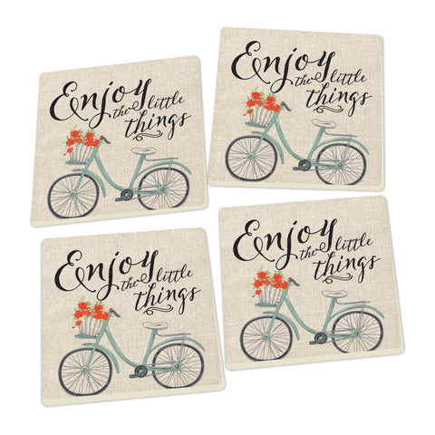 Enjoy the Little Things Coasters - set of 4 - SolagoHome
