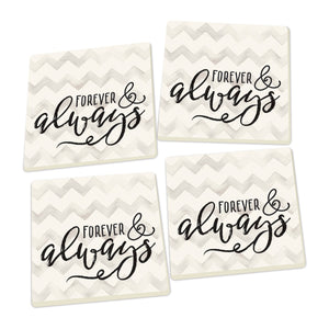 Forever and Always Coasters - set of 4 - SolagoHome