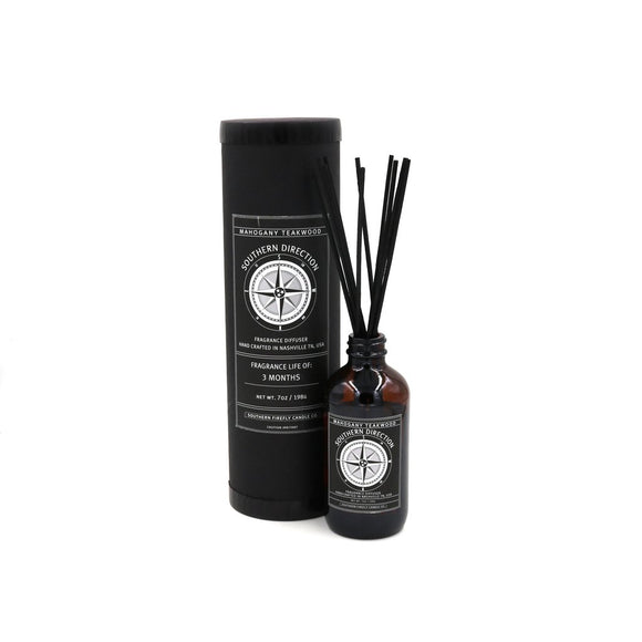Southern Direction Reed Diffuser Set - Mahogany Teakwood - SolagoHome