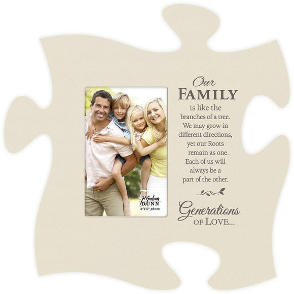 Our Family Puzzle Photo Frame - SolagoHome