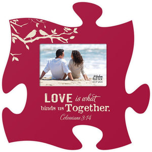 Love Is Spiritual Puzzle Photo Frame - SolagoHome
