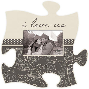 I Love Us Puzzle Photo Frame - SolagoHome