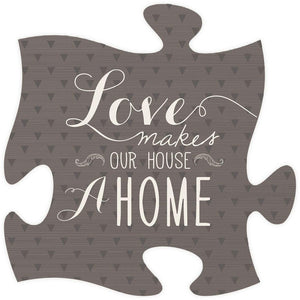Love Makes Quote Puzzle Piece - SolagoHome