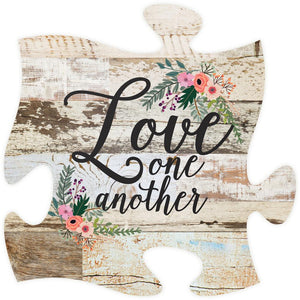 Love One Another Puzzle Piece - SolagoHome