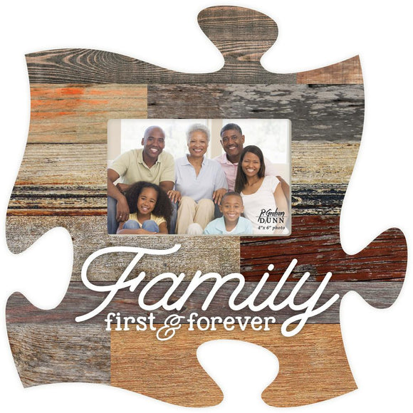 Family First Puzzle Photo Frame - Blemished/Seconds - SolagoHome