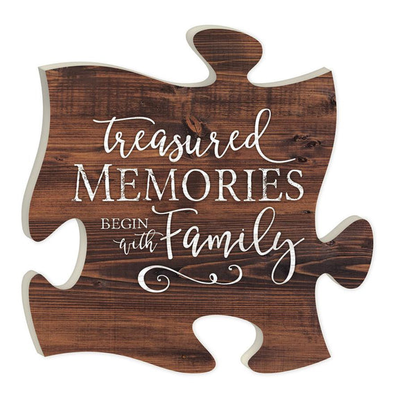 Treasured Memories Begin with Family Puzzle Piece - SolagoHome