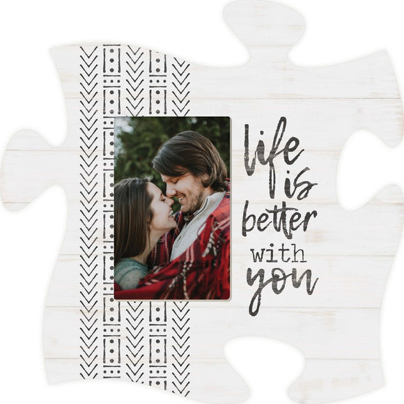 Life is Better Puzzle Photo Frame