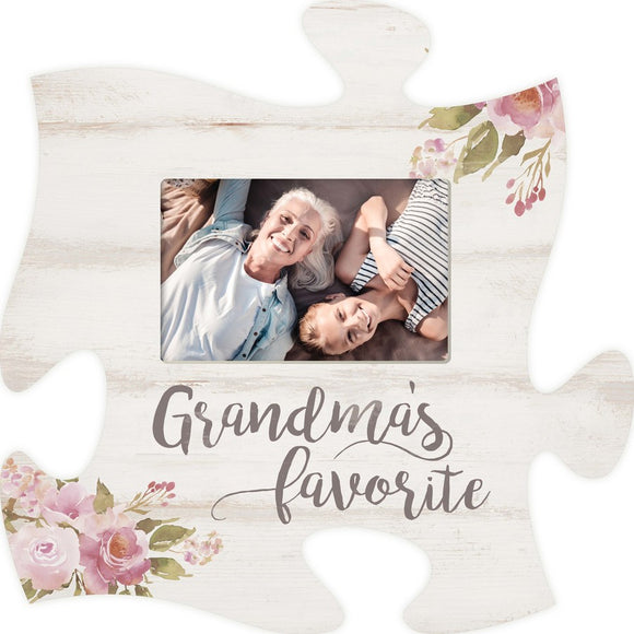 Grandma's Favorite Puzzle Photo Frame