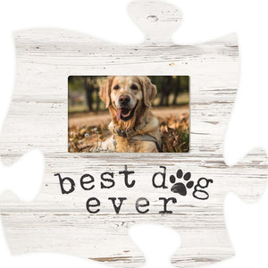 Best Dog Ever Puzzle Photo Frame
