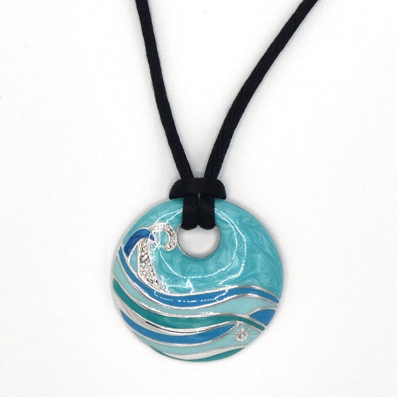Solago Home Blue Wave Pendant