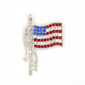 Solago Home American Flag Crystal Pin