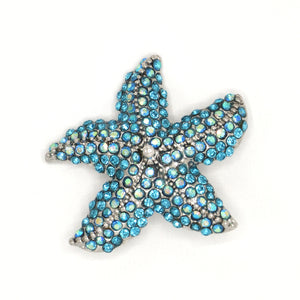 Solago Home Blue Starfish Rhinestone Pin/Pendant