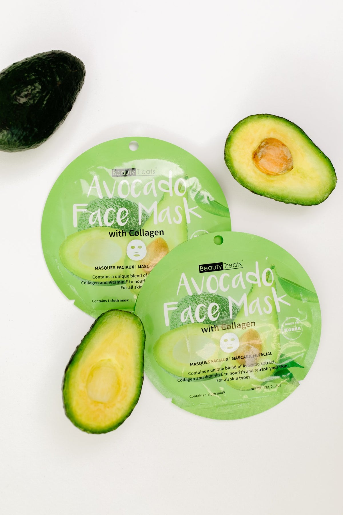 Home For The Holidays Face Mask in Avocado