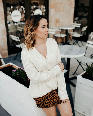 Bella Chunky Wrap Sweater - alma boutique