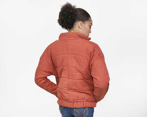 Rust Puffer Jacket - alma boutique