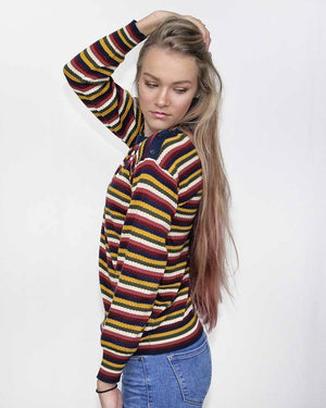 Devri Multi Striped Sweater - alma boutique