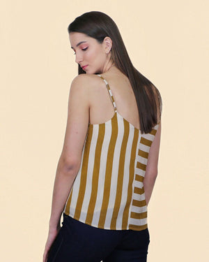 Hayley Mustard and Ivory Tank - alma boutique