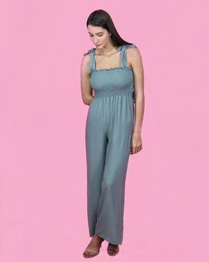 Kate Moss Green Jumpsuit - alma boutique