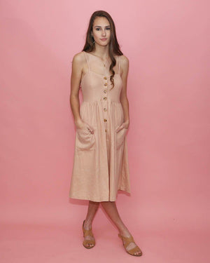 Eva Sundress with Pockets in Blush - alma boutique