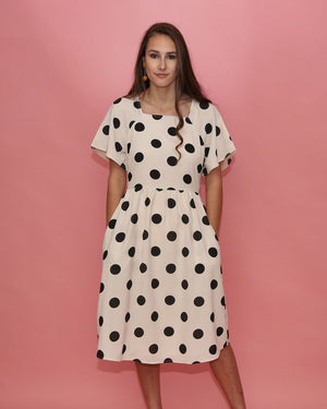 Teresa Large Polka Dot Dress - alma boutique