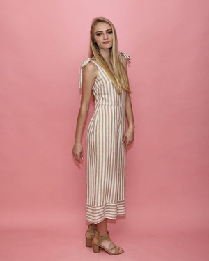 The Natalie Tan Striped Jumpsuit - alma boutique