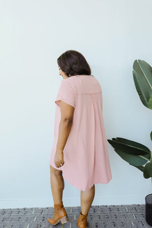 Light Pink All In A Row Dress