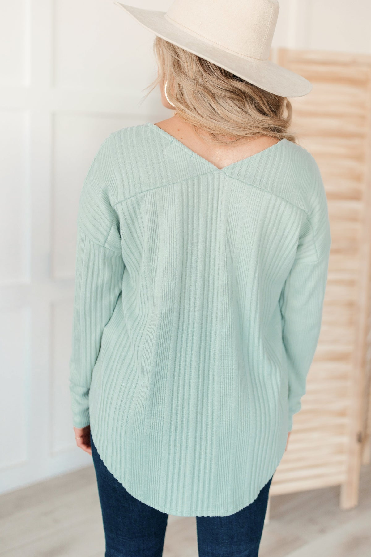 Amira Textured Top in Mint