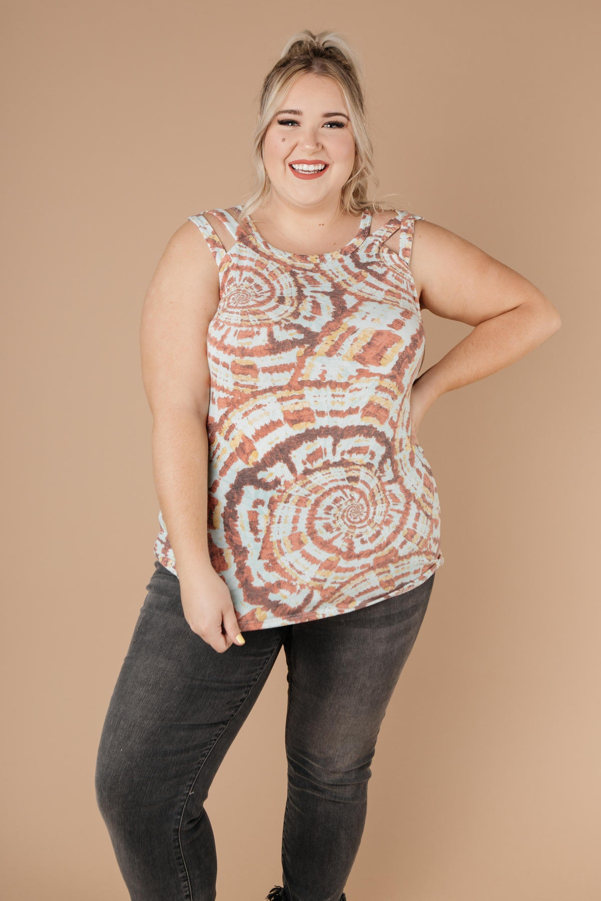 Fall Rings Tie Dye Top