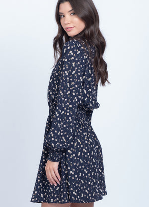 Cara Navy Floral Dress - alma boutique