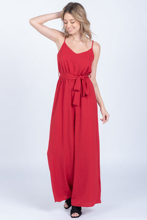 Mikayla Red Jumpsuit - alma boutique