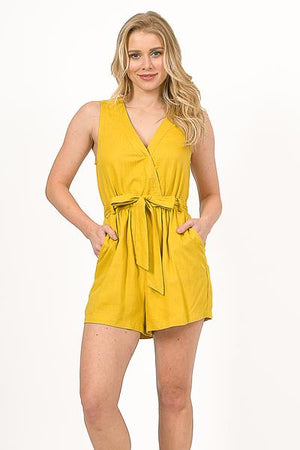 A Ray of Sunshine Yellow Romper - alma boutique