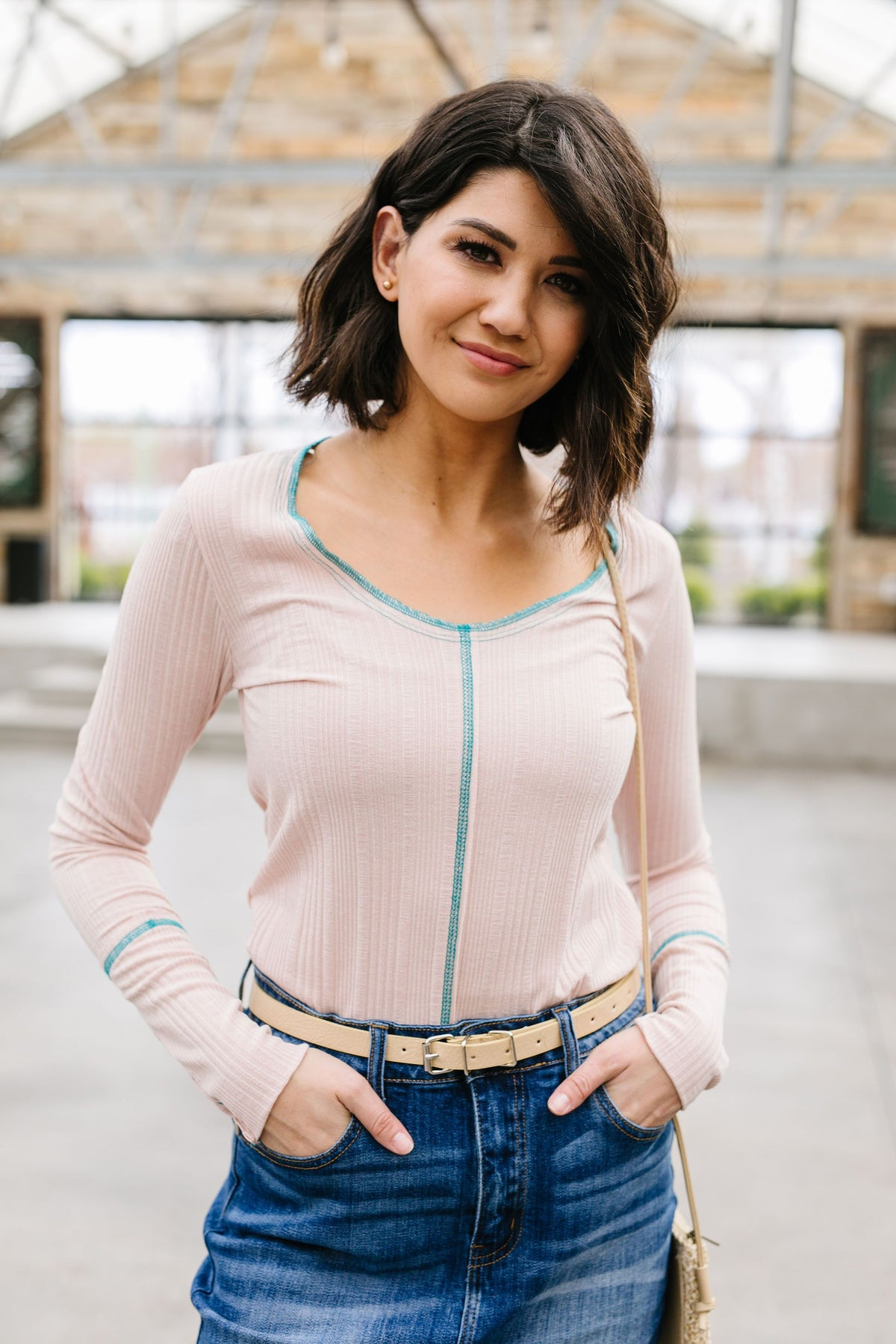 Dana Top In Blush