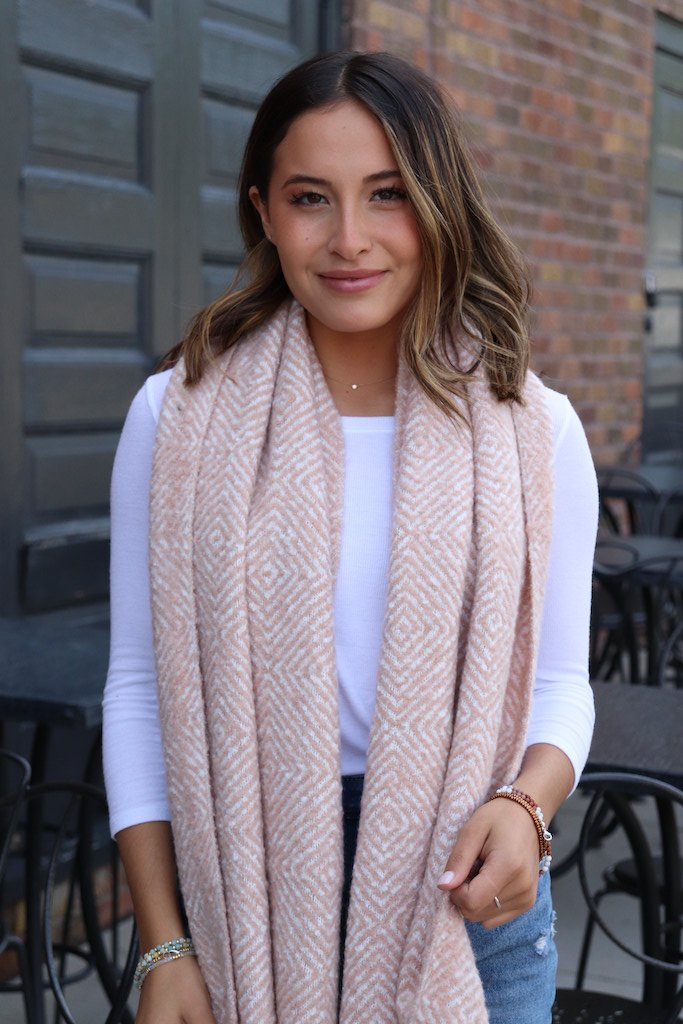 Soft Blush Scarf - alma boutique