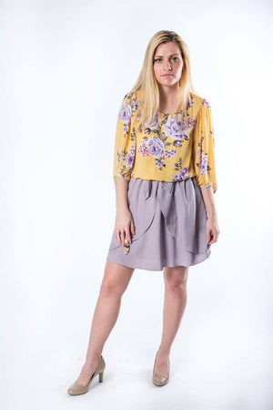 The Blaine Spring Floral Top - alma boutique